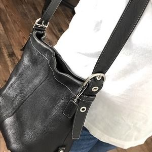 VINTAGE COACH CROSS BODY LEATHER BAG
